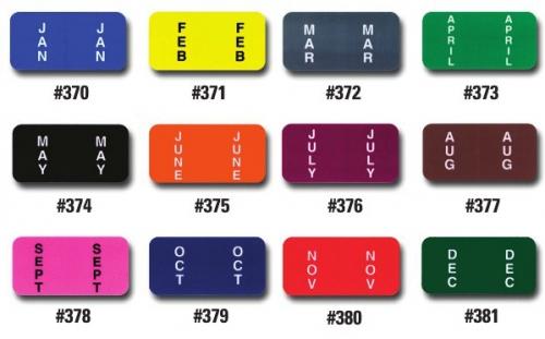 Key Car Dealership >> Color Coded Month Labels - Ringbooks of 270 , DealerStockRoom shop | Dealer Stock Room.com ...