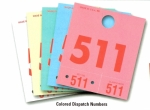 Colored Service Dispatch Numbers - Product Image