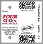 Custom Versa-Tags - Full Color Custom Imprint - Product Image