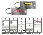 Digitally Printed Brushed Chrome Key Tags - Product Image