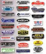 Domed DealerCal Decals - One Print Color - Product Image