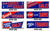 Economical Stock Message Banners