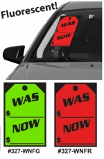 Fluorescent WAS / NOW Stickers - Product Image