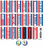 Giant Free-Flying Authorized Dealer Drape Flags - 3 ft x 8 ft - Product Image