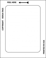 Kleer-Bak Plain White Stickers (100/Pack) - Product Image