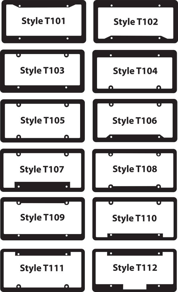 License Plate Frames Black With Raised Letters