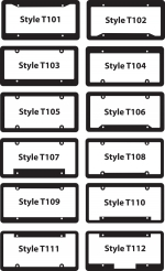 License Plate Frames -  Black with Raised Letters - Product Image