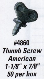 License Plate Screws - Thumb Screw - American - Product Image