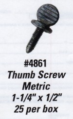 License Plate Screws - Thumb Screw - Metric - Product Image