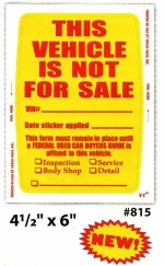 Kleer-Bak Not For Sale Sticker PLUS - Product Image