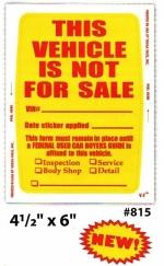 Kleer-Bak Not For Sale Sticker PLUS - Product Image