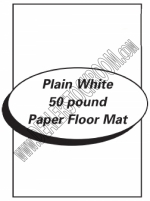 Paper Floor Mats - Plain White Paper - Product Image