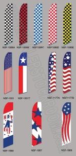 Patriotic & Checker Swooper Flags (Flag Only) - Product Image