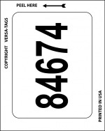 Pre-Numbered Kleer-Bak Plain White Stickers (100/Pack) - Product Image