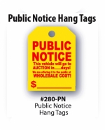 Public Notice Mirror Tags - Product Image