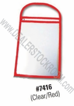 Repair Order / Work Ticket Holder - Clear/Red - Product Image