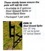 Reusable Balloon Ground Pole Base -- Steel Ground Spike - Product Image