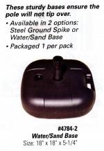 Reusable Balloon Ground Pole Base -- Water/Sand Base - Product Image
