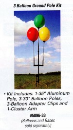 Reusable Balloon Ground Pole Kit for 3 Balloons - Product Image