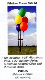 Reusable Balloon Ground Pole Kit for 5 Balloons - Product Image
