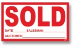 SOLD Sticker - Product Image