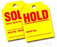 Sold / Hold Tags