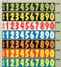 "V-T Vinyl Highlights - Windshield Number KIT - 7 1/2"" -- Full Set of Numbers - Product Image"