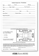 Vehicle Inspection Worksheet - Form #AVW - Product Image